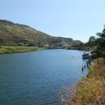 El riu Temo poc abans d'arribar a mar (Sardenya, 2009)